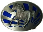 Horse and Sunrise Belt Buckle + display stand. Code ND5